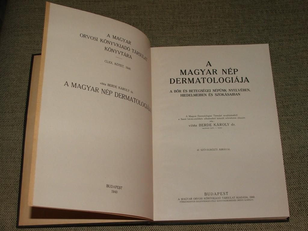 a magyar nép dermatológiája