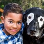 vitiligo, boy, dog